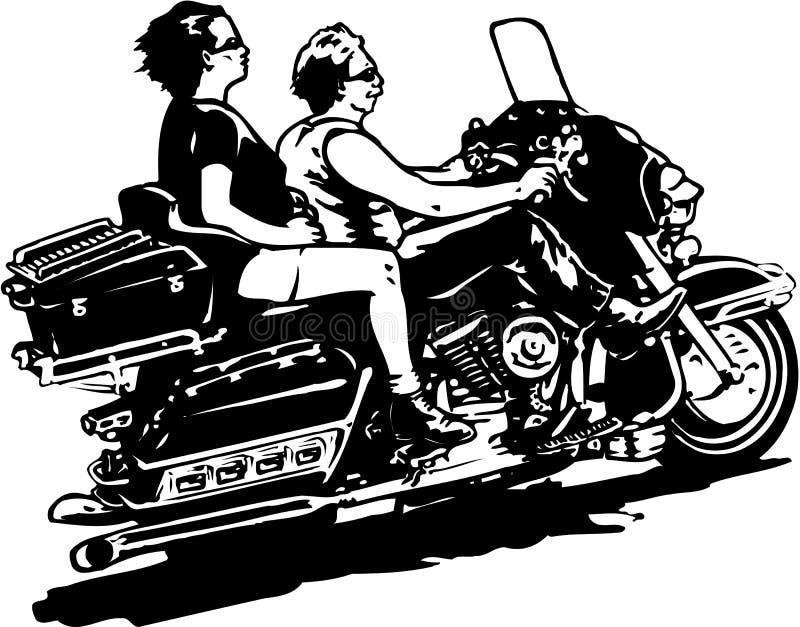 Pares en el ejemplo del vector de la motocicleta ilustración del vector