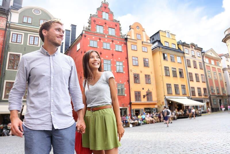 Pares en Estocolmo, Suecia, Europa foto de archivo