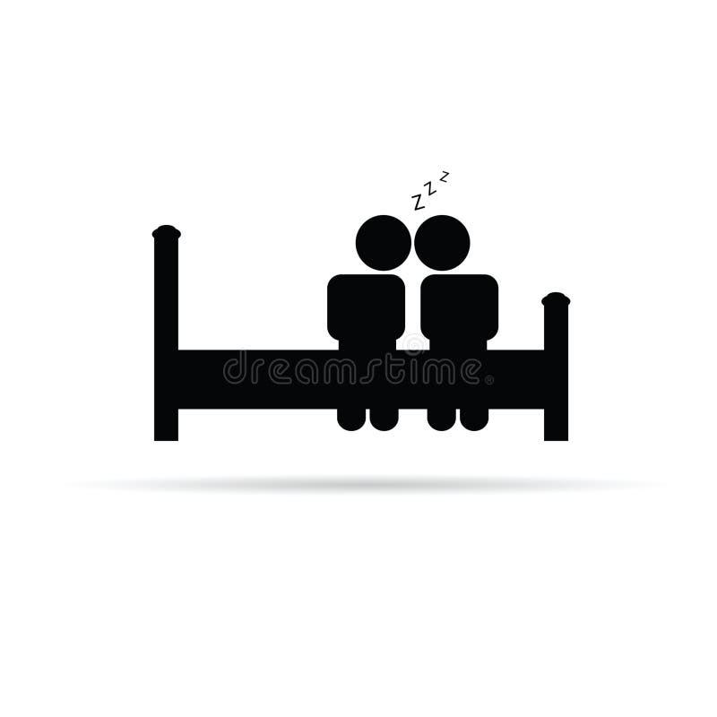 Pares en vector del icono de la cama libre illustration