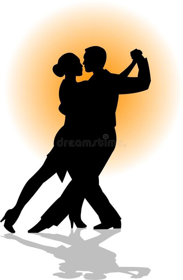 Pares/EPS de la danza del tango ilustración del vector