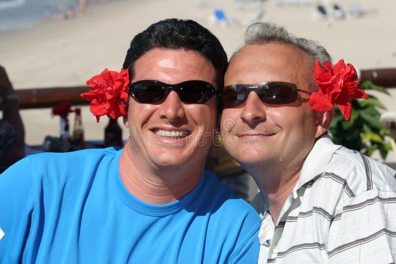 Pares felices de los hombres foto de archivo libre de regalías