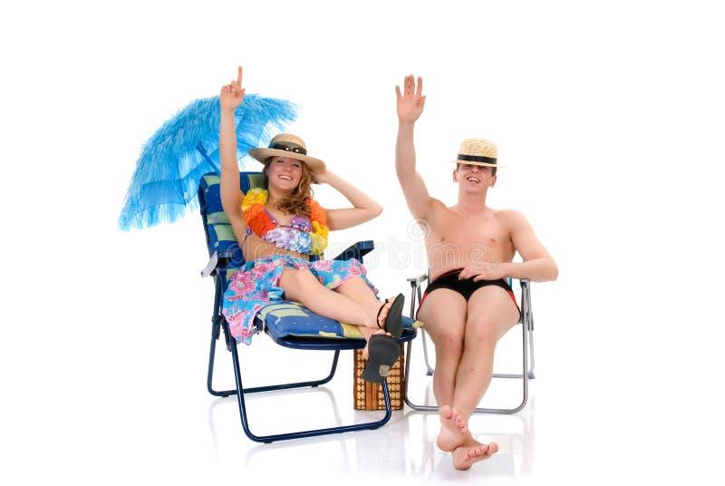 Pares felices, vacaciones imagen de archivo libre de regalías