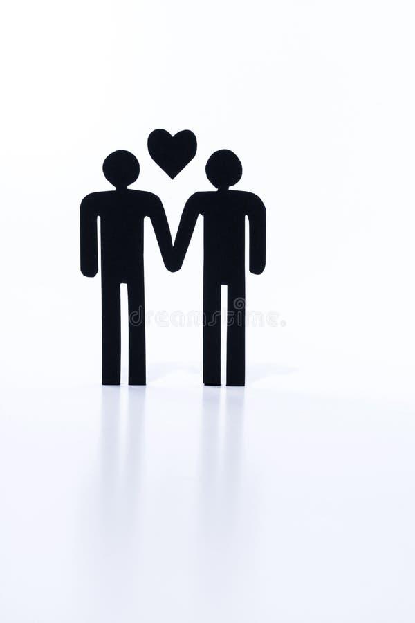Pares gay, matrimonio homosexual, estatuillas foto de archivo