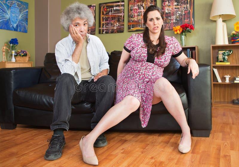 Pares grávidos impacientes foto de stock royalty free