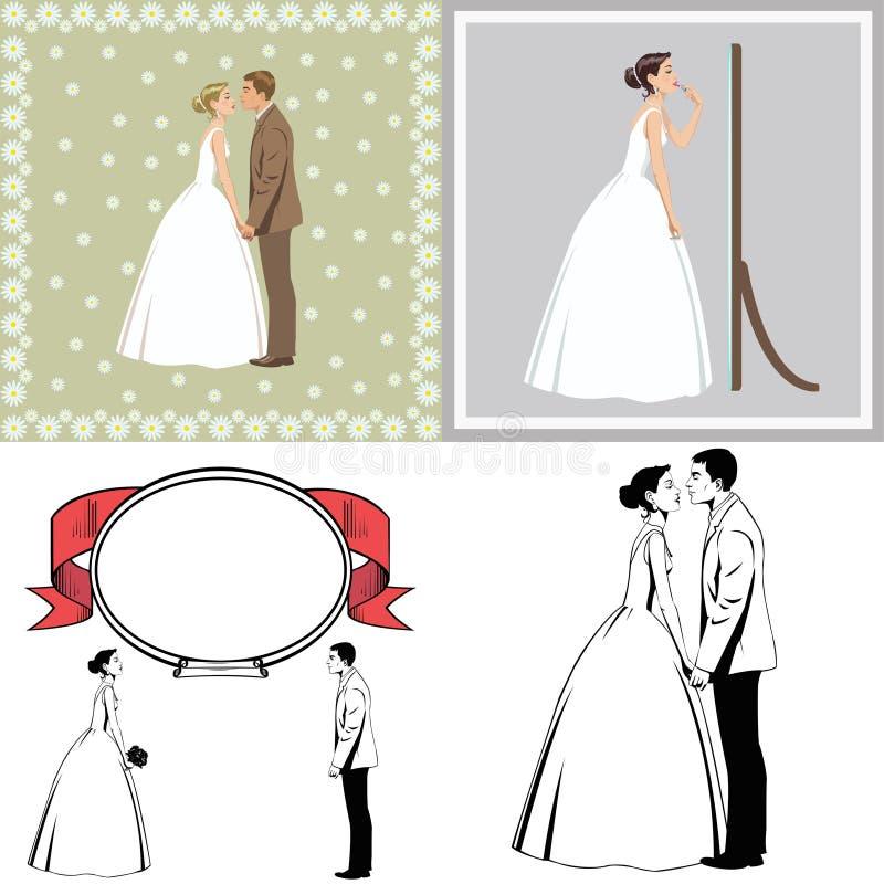Pares hermosos del recién casado imágenes de archivo libres de regalías