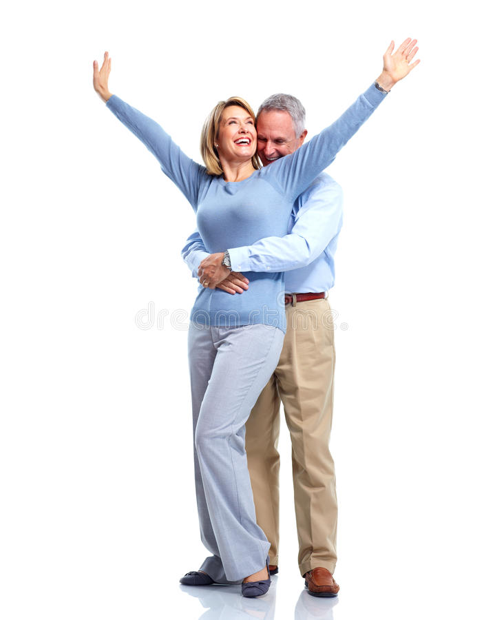 Pares idosos felizes. fotos de stock royalty free