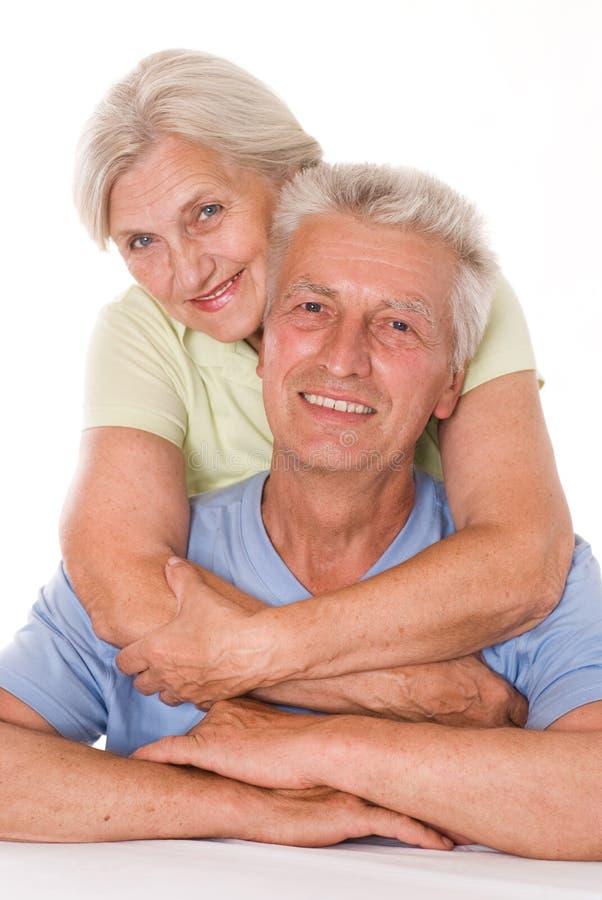 Pares idosos felizes junto imagens de stock