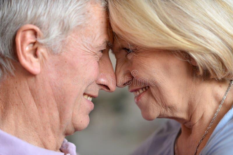 Pares idosos na sala imagem de stock royalty free