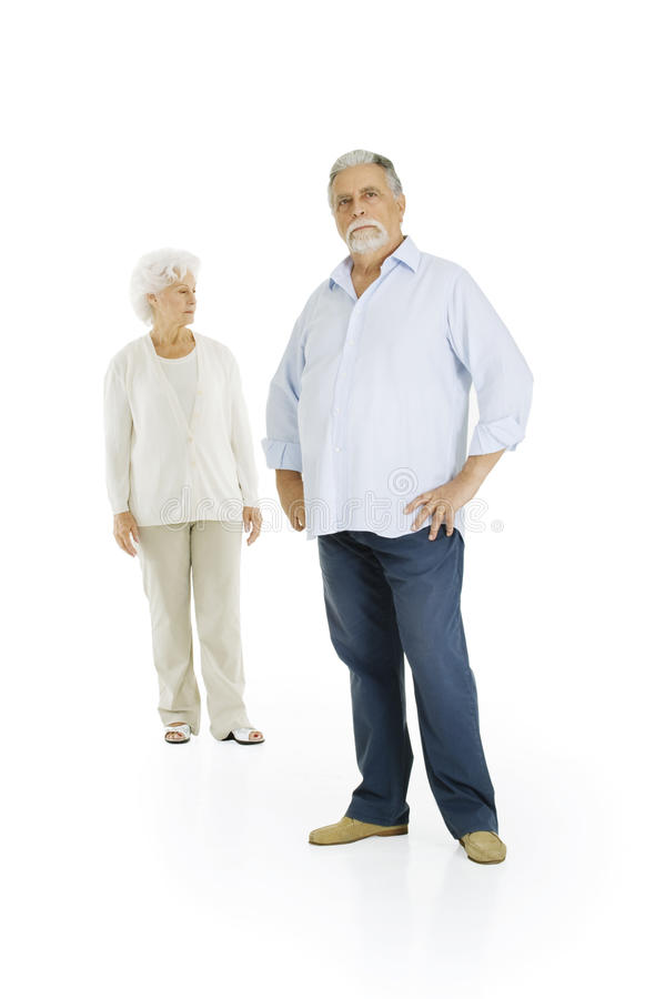 Pares idosos separados fotos de stock