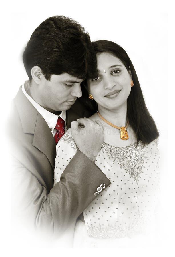 Pares indios de la boda imágenes de archivo libres de regalías