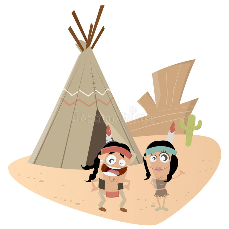Pares indios divertidos libre illustration