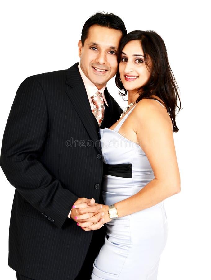 Pares indios felices fotos de archivo