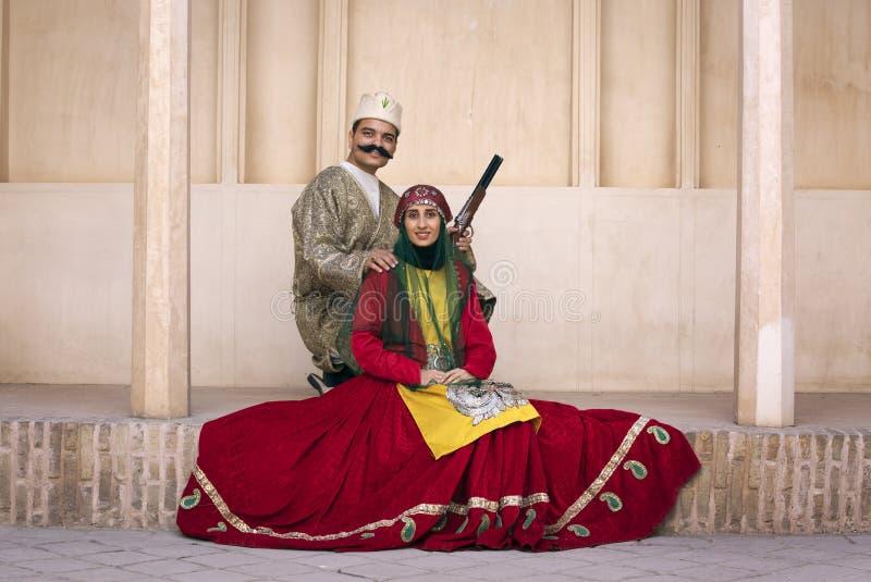 Pares iranianos tradicionais imagens de stock