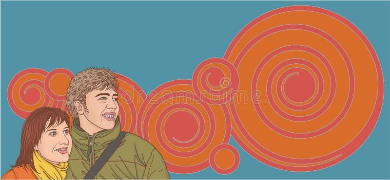 Download Pares jovenes ilustración del vector. Ilustración de sensación - 7282647