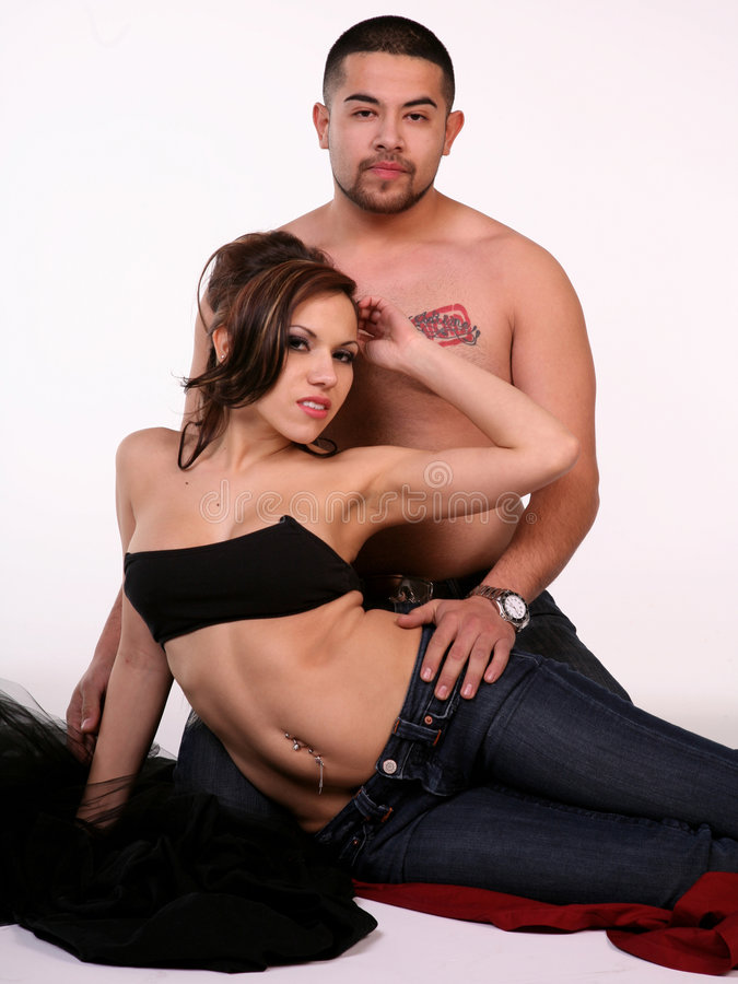 Pares Latin 'sexy' imagens de stock royalty free