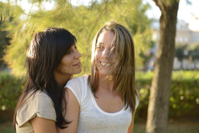 Pares lesbianos foto de archivo
