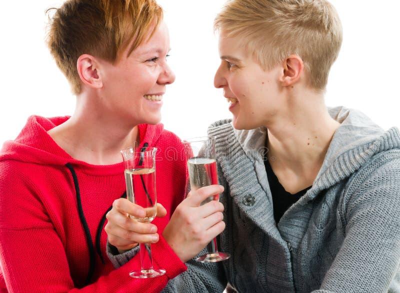 Pares lesbianos foto de archivo libre de regalías