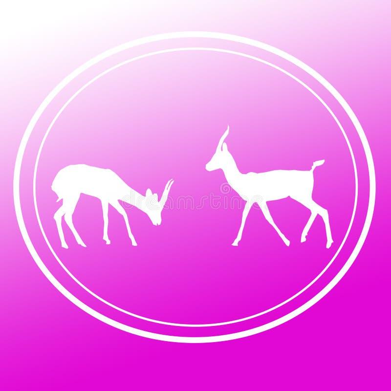 Pares Logo Image Background Icon de Chinkara da gazela ilustração royalty free