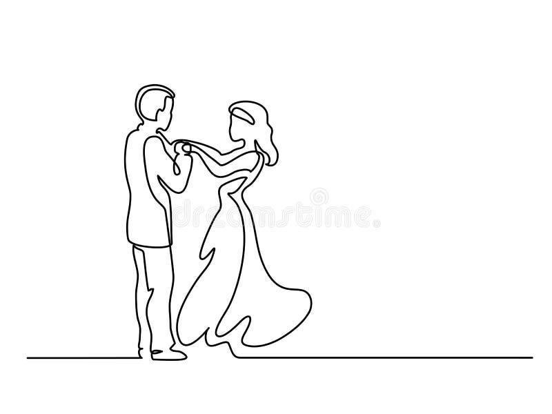 Pares loving no fundo branco ilustração stock