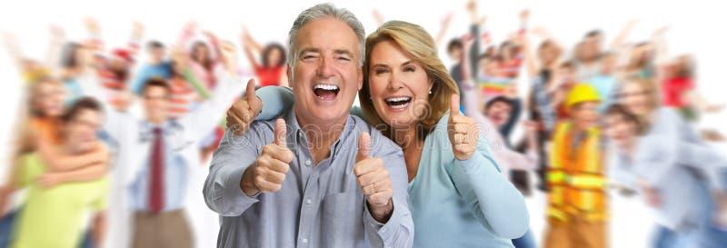 Pares maduros felizes foto de stock royalty free