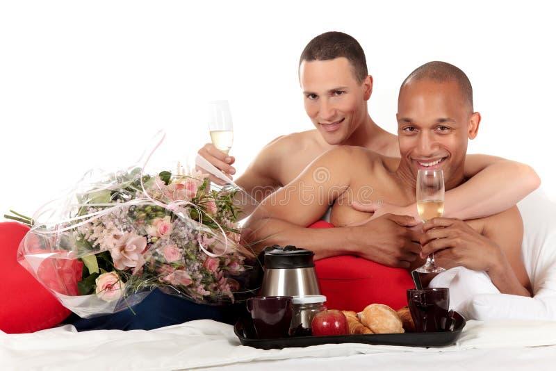Pares misturados do homossexual da afiliação étnica fotos de stock