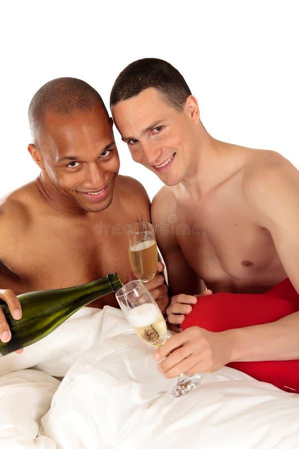 Pares misturados do homossexual da afiliação étnica imagens de stock royalty free