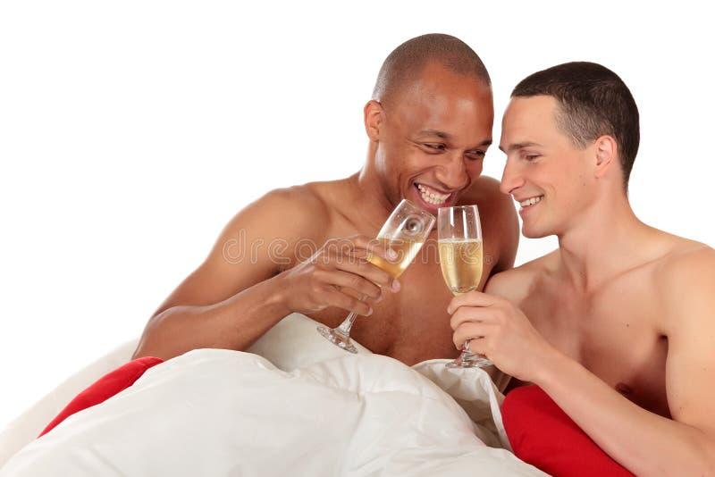 Pares misturados do homossexual da afiliação étnica fotografia de stock royalty free