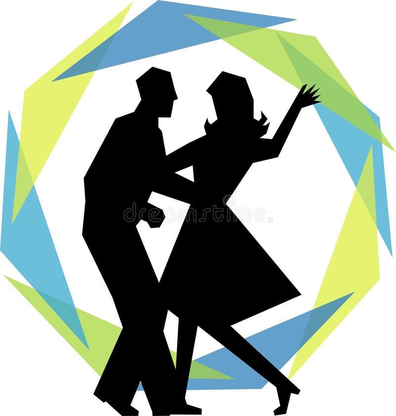 Pares modernos da dança do balanço ilustração royalty free