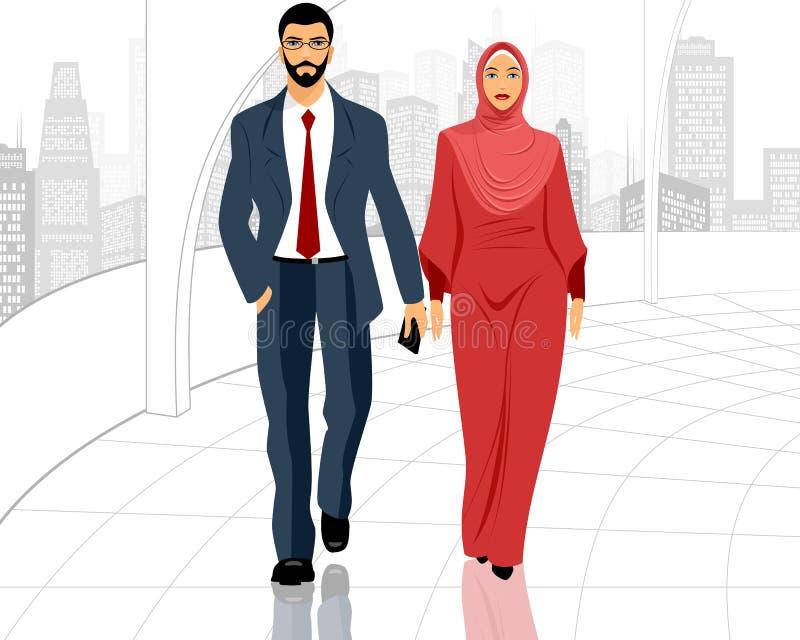 Pares muçulmanos novos ilustração royalty free