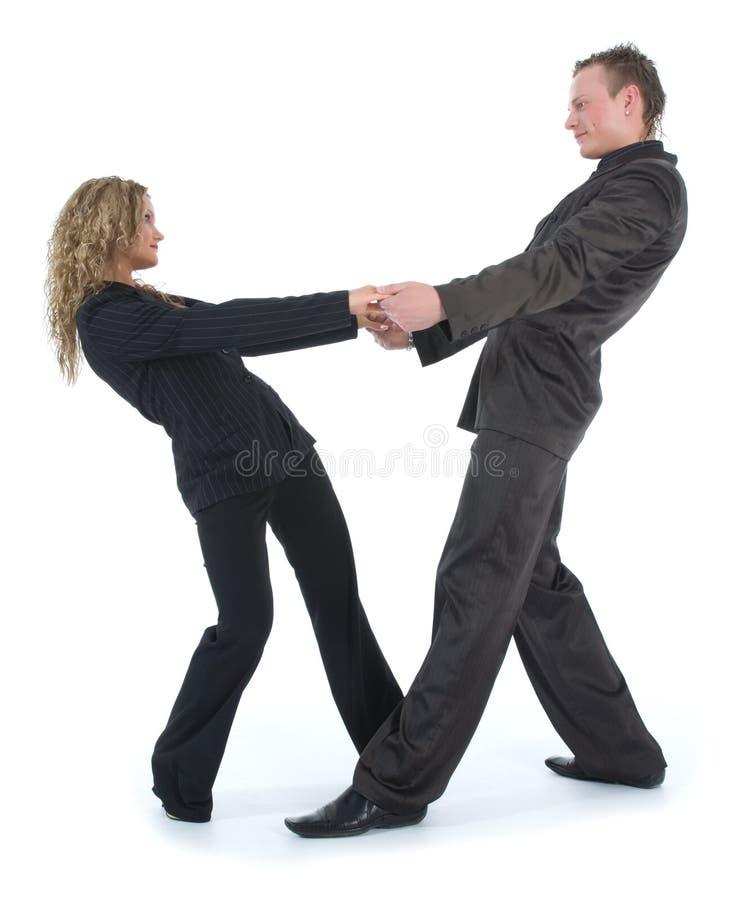 Pares na dança preta imagem de stock