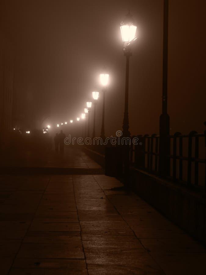 Pares na noite nevoenta imagens de stock