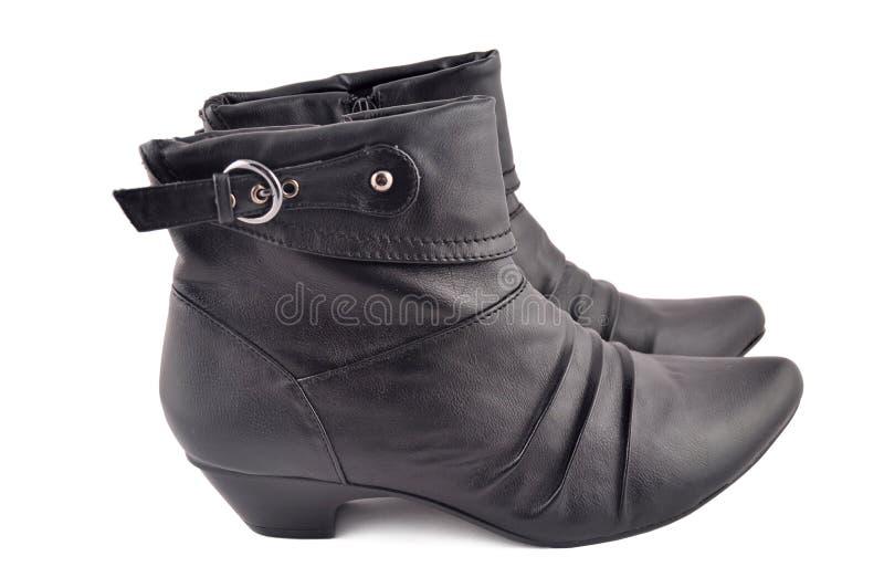Pares negros de los zapatos foto de archivo libre de regalías