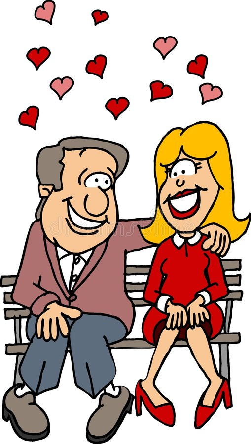Pares no amor ilustração do vetor