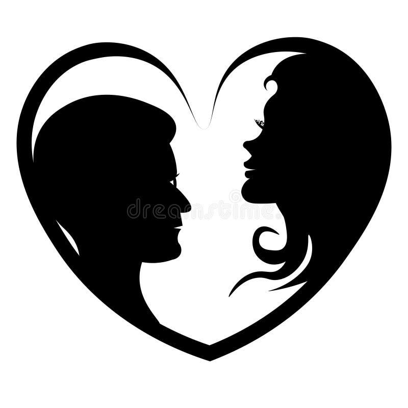 Pares no amor ilustração stock