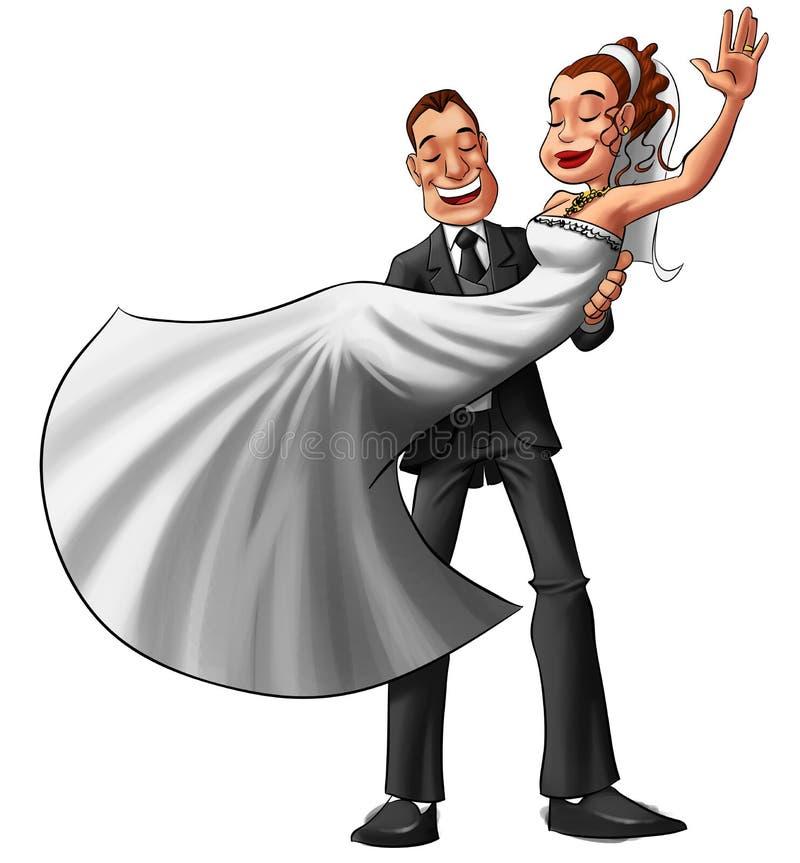 Pares no casamento ilustração stock