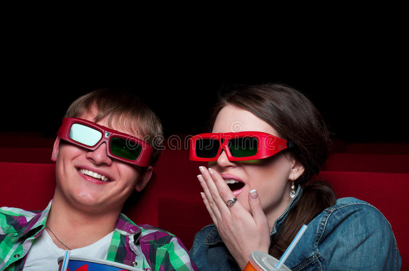 Pares no cinema imagem de stock royalty free