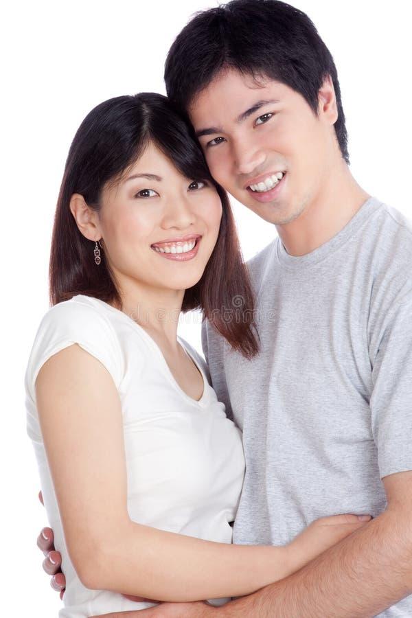 Pares novos asiáticos imagem de stock royalty free