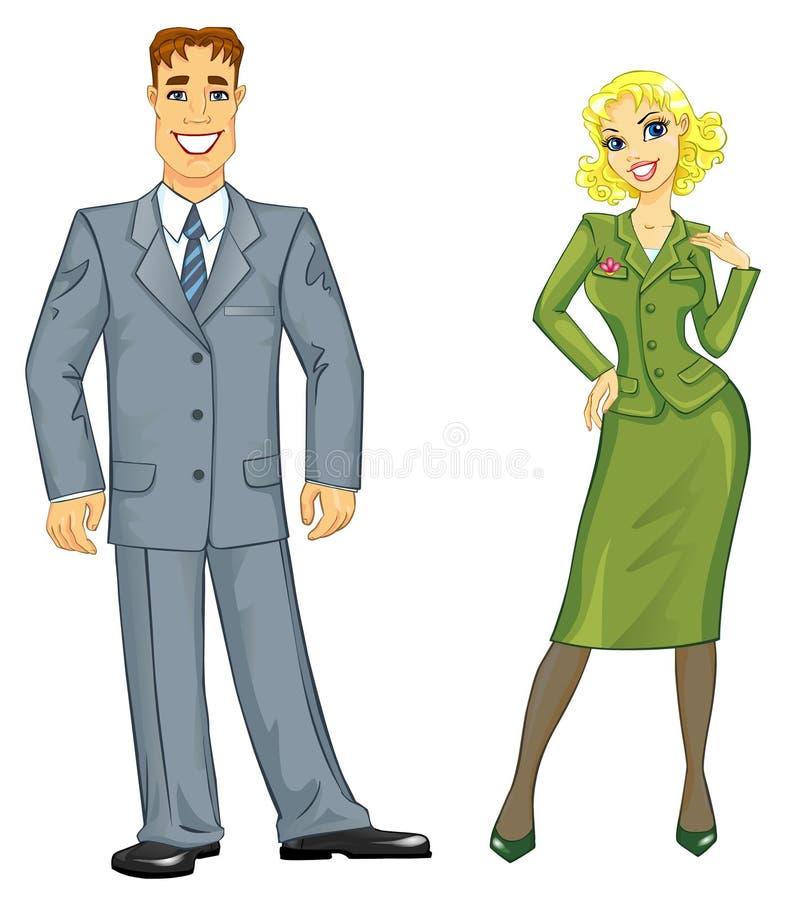 Pares novos do negócio ilustração royalty free