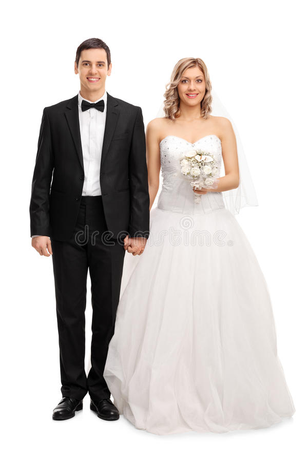 Pares novos do newlywed foto de stock royalty free