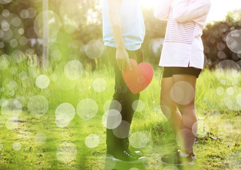 Pares novos românticos no amor foto de stock royalty free