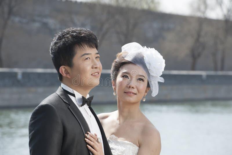Pares nupciales chinos fotografía de archivo libre de regalías