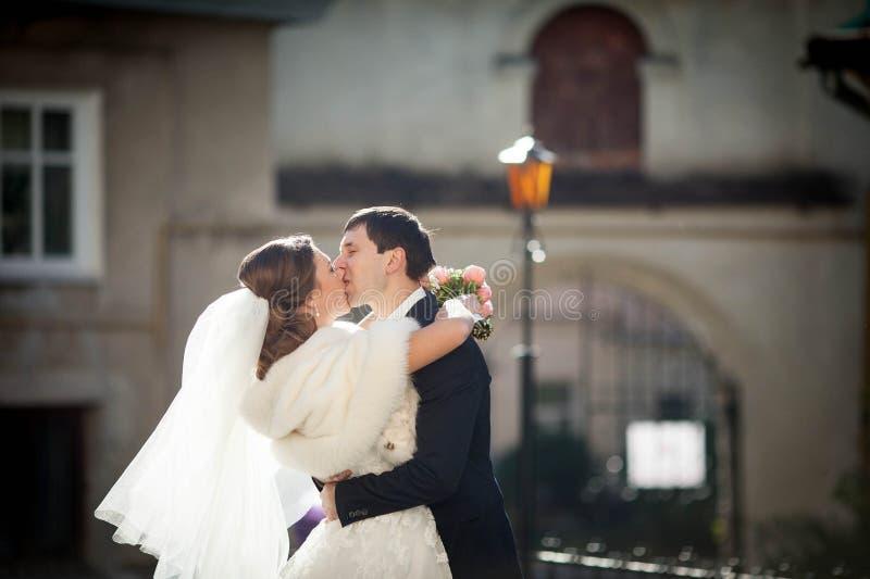 Pares que beijam passionately fotos de stock