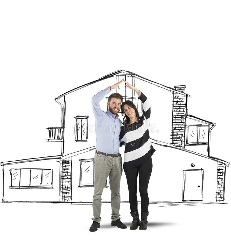 Pares que planean un hogar fotografía de archivo