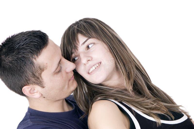Pares románticos fotografía de archivo