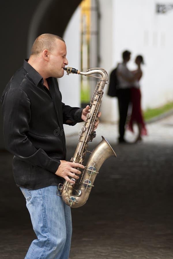 Pares românticos do jazz fotografia de stock