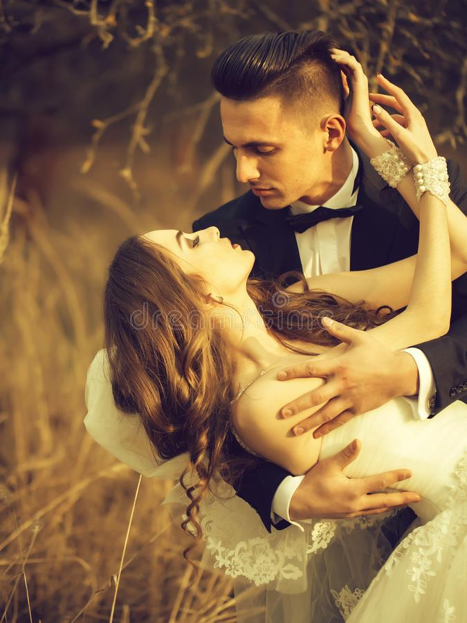 Pares sensuais do casamento fotos de stock royalty free