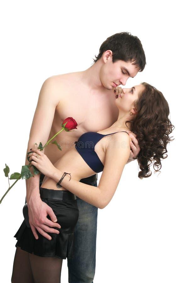 Pares sexuais bonitos no amor fotografia de stock royalty free