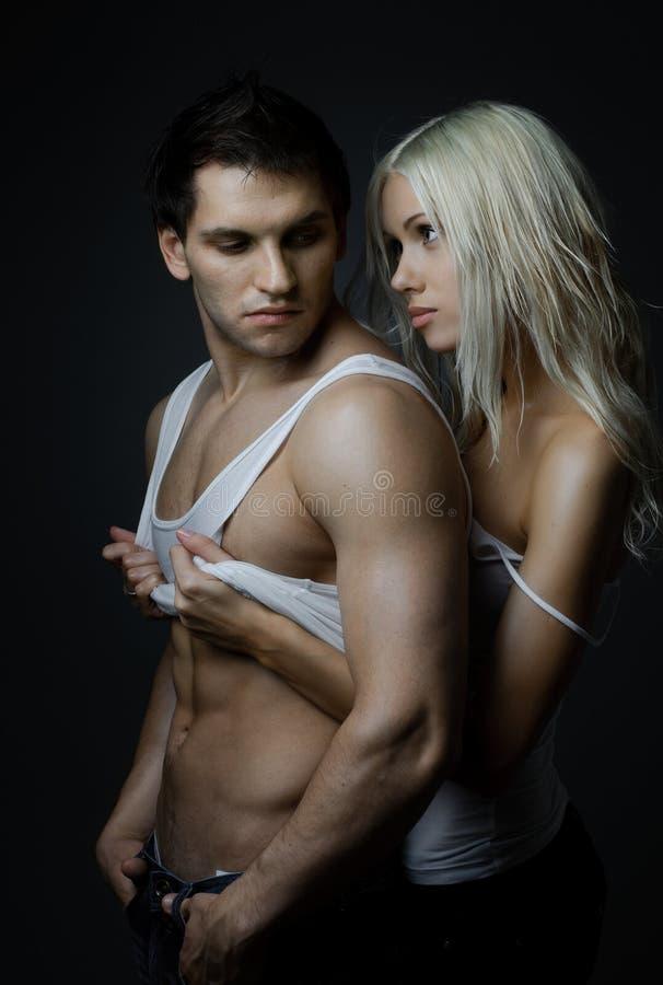 Pares 'sexy' fotografia de stock