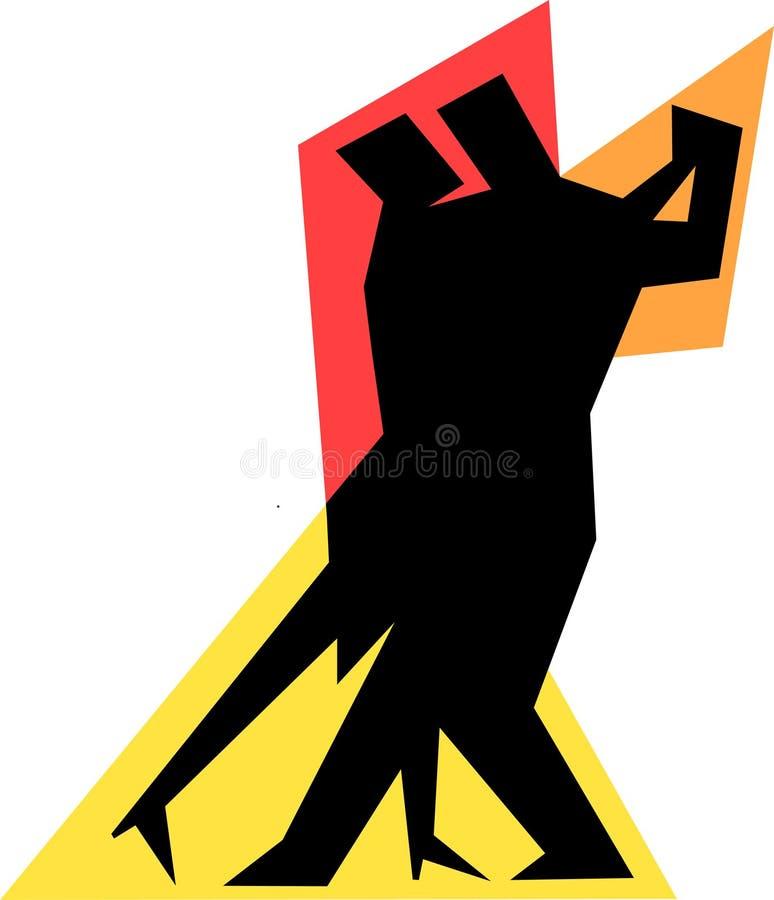 Pares simples da dança do tango ilustração stock