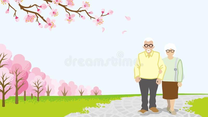 Download Pares Superiores De Passeio, árvores De Cereja Da Flor Completa - EPS10 Ilustração do Vetor - Ilustração de aposentadoria, refrescar: 65579934